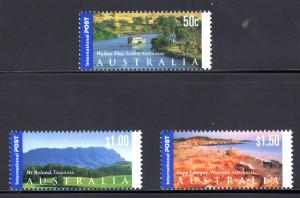 Australia #2055-2057, Tourist Attractions airmail defins
