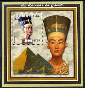 Mozambique 2002 Queen Nefertiti perf s/sheet containing 1...