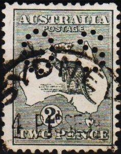 Australia. 1913 2d(Perfin OS) S.G.35 Fine Used