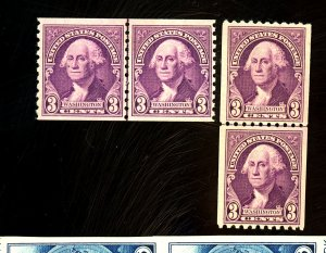 721-722 MINT Line Pairs FVF OG NH Cat$21