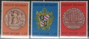 VATICAN CITY 484-486 MNH Vatican I Council