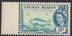Cayman Islands 1953 - 62 QE2 3d Parrotfish MM SG 154 ( J1495 )