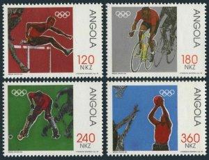 Angola 842-845,MNH.Mi 897-900. Olympics Barcelona-1992. Hurdles, Cycling, Hockey