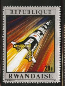 RWANDA Scott 373  MH* 1970 Apollo Spaceship stamp