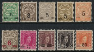 Luxembourg #112-8,20-1,3*  CV $2.50