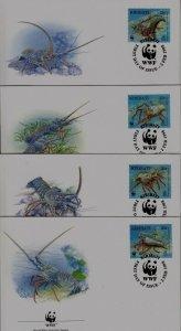 Kiribati 715-18 FDC WWF-98/Lobster