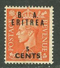 Great Britain-Eritrea # 27 George VI  (1) Unused VLH