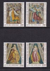 Vatican City   #973-976  MNH  1995  details of artworks Sacristy