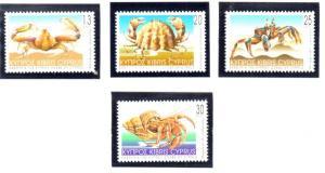 Cyprus Sc 978-81 2001 Crabs stamp set mint NH