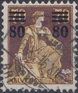 1915  80a.70C. Helvetia