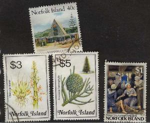 Norfolk Island - 4 Different Used with Neat Cancels VF