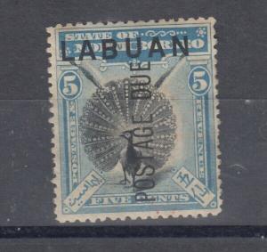 Labuan 1901 5c Postage Due SGD5 Mint MH J5128