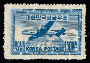 KOREA STAMP  1951 AIR MAIL STAMP MH/OG 150 WON