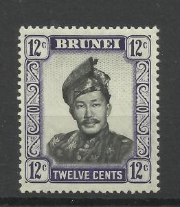 Brunei 1952 Sg 107, 12c Black & Violet LM/M [535]