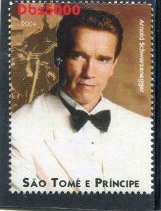 Sao Tome & Principe 2004 ARNOLD SCHWARZENEGGER 1v Perforated Mint (NH)