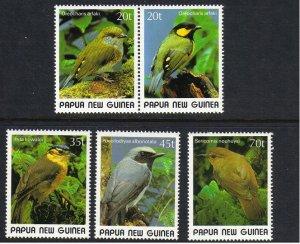 Papua New Guinea MNH 715-9 Various Birds SCV 9.35