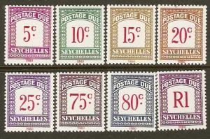 Seychelles #J11-18 NH 1980 Postage Dues
