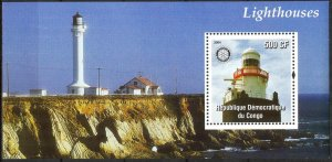 Congo 2004 Lighthouses Rotary S/S MNH Cinderella !