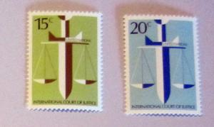 UN, NY - 314-15, MNH Set. Scale, Sword of Justice. SCV-$0.55