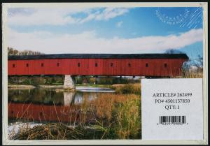 Canada new issue Set of 5 Prepaid Postcards - Historic Covered Bridges