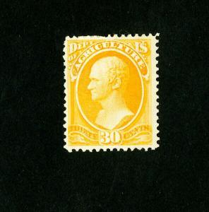 US Stamps # O9 VF OG H Fresh color Scott Value $550.00