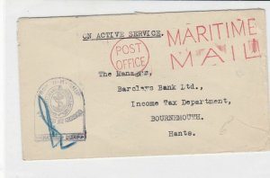 british maritime censor ships post stamps cover ref 18733