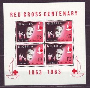 Z556 Jlstamps 1963 nigeria s/s mnh #149a red cross