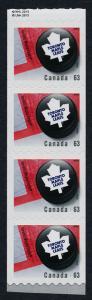 Canada 2664i end Strip MNH NHL Toronto Maple Leafs, Ice Hockey Puck