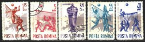 Romania. 1963. 2184-88. Volleyball. USED.
