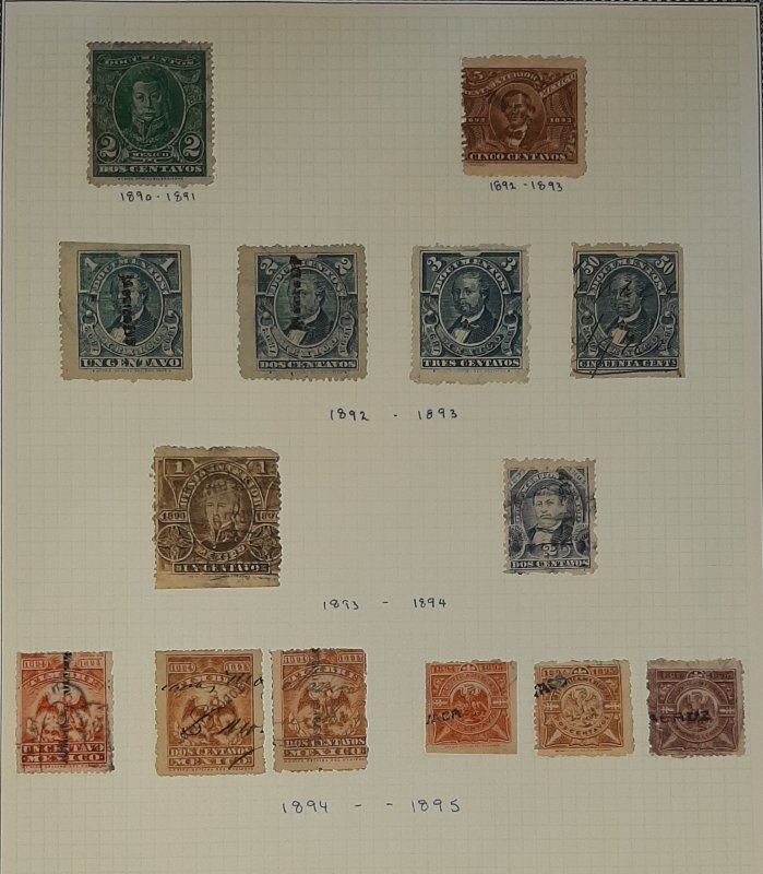 MEXICO Documentary Stamp Collection