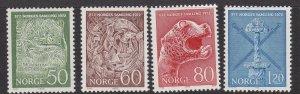 NORWAY ^^^^^sc# 586-589 better  MNH  SET  $$@ lar 544nor