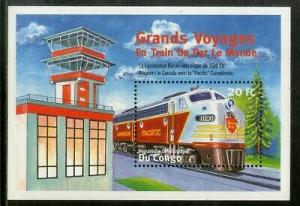 Congo MNH S/S 1571 Locomotive 2001