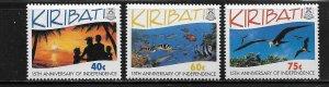Kiribati 631-633 (3) Set MNH 1994 Environmental Protection