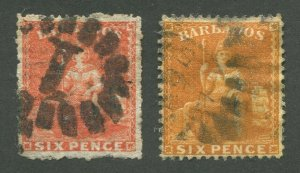 BARBADOS #20, 20a USED