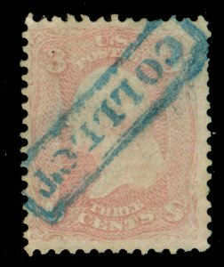 MOMEN: US STAMPS #64 PINK USED PF CERT LOT #70200