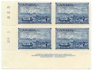 Canada #313 Mint Plate 1 and 2 Matched Sets - 1951 Capex