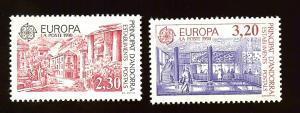 Andorra Fr. 391-2 Europa Cept 1990 MNH