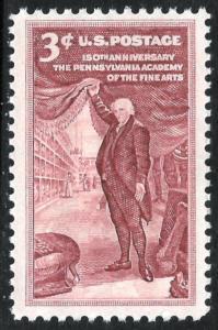 Sc 1064   3¢ Pennsylvania Academy of Fine Arts Single, MNH