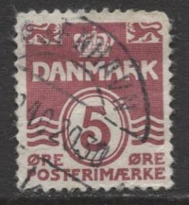 Denmark - Scott 224 - Definitive Issue -1933 - Used - Single 5o Stamp