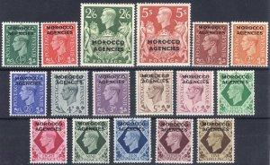 Morocco Agencies 1949 1/2d-5s on GB SG 77-93 Scott 246-262 LMM/MLH Cat £80($100)