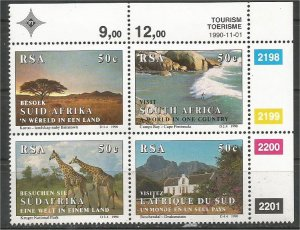 SOUTH AFRICA, 1990, MNH block, Tourism Scott 796a