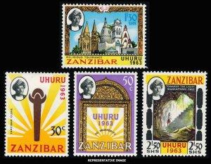 Zanzibar Scott 281-284 Mint never hinged.