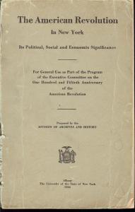 The American Revolution in New York: Its Political, Socia...