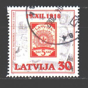 Latvia. 1998. 487. Stamps on stamps. USED.