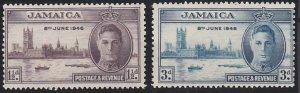 Jamaica 136-137 MNH (1946)