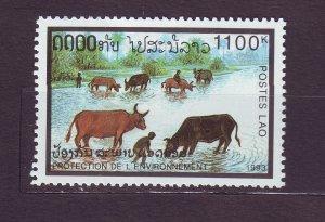 J23451 JLstamps 1993 laos hv of set  mhr #1126 water buffolos