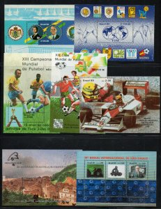 Brazil - (10) Souvenir Sheets (2 MH)  / Nice Group   -    Lot 0720753
