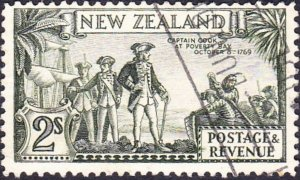 NEW ZEALAND 1941KGVI 2/-Olive-GreenSG589dUsed