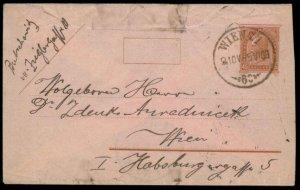 Austria Empire 1909 Rohrpost Pneumatic Mail Postal Stationery Envelope G67177