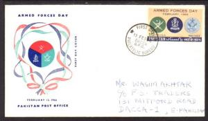 Pakistan 222 Armed Forces Day 1968 Pen FDC